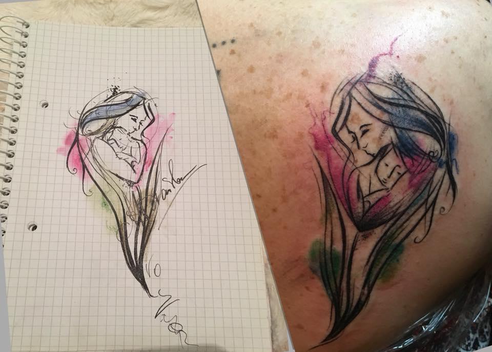 Tatuaż Beauty Universe